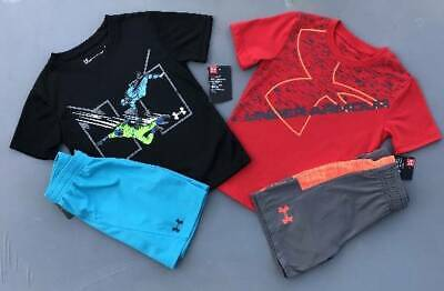 Boy's Size 4/4T Under Armour Lot Of 4 Items Shirts/Shorts Outfits Nwt
