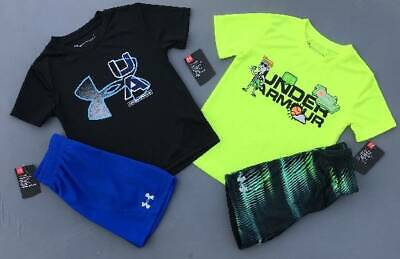 Boy's Size 4 Under Armour Lot Of 4 Items Shirts/Shorts Outfits Nwt