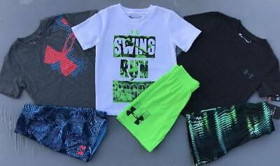 Boy's Size 4 Under Armour Lot Of 6 Items Shirts/Shorts Outfits Nwt