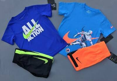 Boy's Size 4 Nike Lot Of 4 Items Shirts/Shorts Outfits Nwt