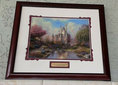 Thomas Kinkade A New Day at the Cinderella Castle Framed Print