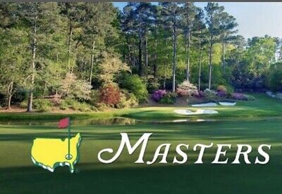 (4) 2020 Masters Golf Practice Round Tickets, Monday April 6, Four Tickets