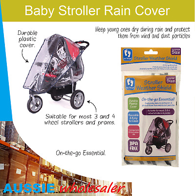 Au new Baby Stroller Rain Cover Toddler Baby Pram Insect Weather Stroller Cover