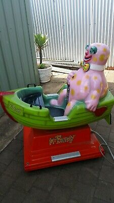 Mr Blobby coin operated amusement ride birthday parties collectors