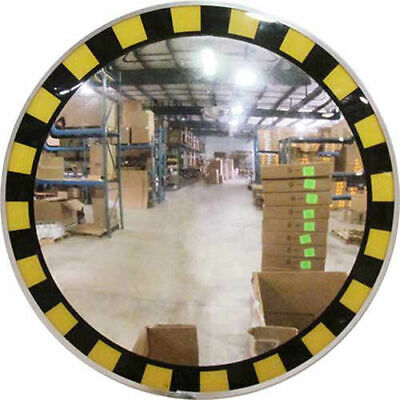 """Acrylic Indoor Convex Mirror with Safety Border & T Mounting Bracket, 30"""""""