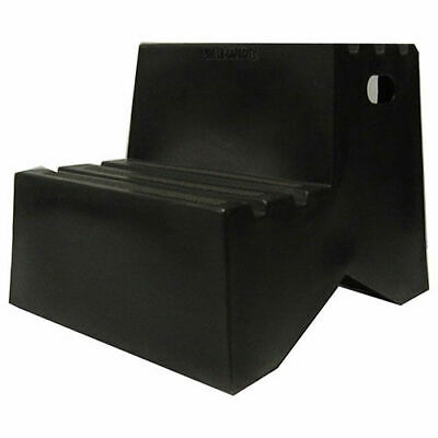 "2 Step Plastic Step Stand, 18-1/4""W x 24-1/2""D x 19-1/2""H, Black"