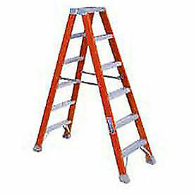 4' Dual Access Fiberglass Step Ladder