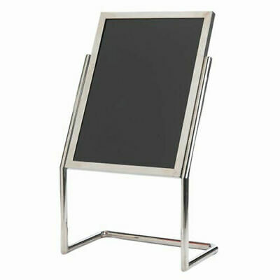 "Aarco Dual Capability Neon Marker Board And Menu/Poster Holder Chrome - 22""W x"