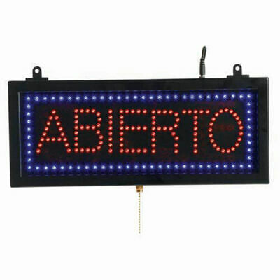"Aarco Small Spanish LED Sign Abierto (Open) - 16-1/8""W x 6-3/4""H"