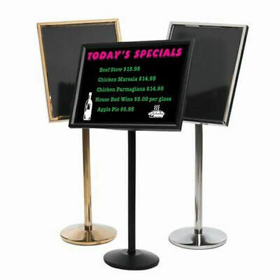 "Aarco Small Dual Capability Neon Mb And Menu/Poster Holder Black - 24""W x 20""H"
