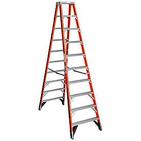 10' Dual Access Fiberglass Step Ladder, 375 lb. Cap