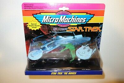 1990's GALOOB MICRO MACHINES SPACE STAR TREK SEALED SET COLLECTION 2 THE MOVIES