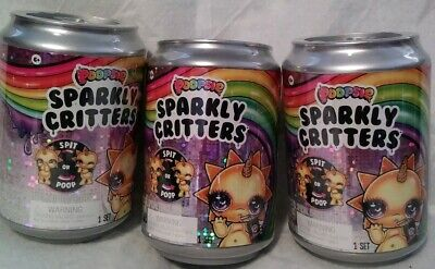 Lot of 3 Poopsie Sparkly Critters Can Magically Poop or Spit Slim