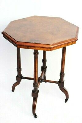 Antique Victorian Walnut Octagonal Occasional Table [5948]