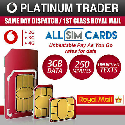 ⭐️Vodafone Sim Card - New and Sealed Only 20p Pay As You Go PAYG Official SIM⭐️