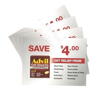 14x Save $4.00 on Advil Cold Sinus and Flu Coups (Canada)