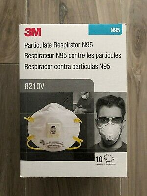 3M 8210V N95 Particulate Respirator - Box of 10 - FREE SHIPPING !!