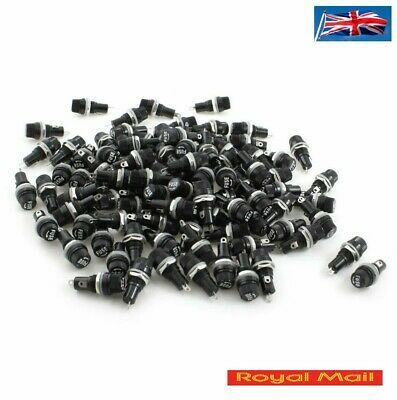 AC 10A 250V Screw Cap Panel Mounting 5mm x 20mm Fuse Holder #H254