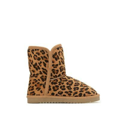 La Redoute Collection Girls Kids Fur Lined Leopard Print Boots 350154454
