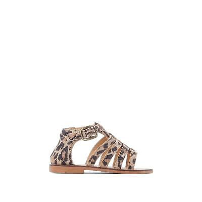 La Redoute Collection Girls Leopard Print Leather Sandals 350146790