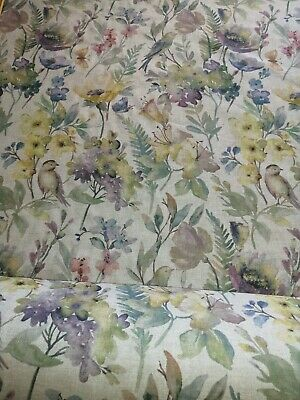 100% Cotton French Country Linen Style Botanica Fabric Faded Colour Wash Fabric
