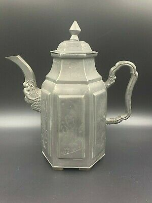 Antique Chinese Pewter Wine Pot