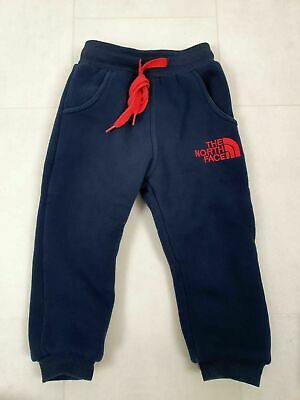 The North Face Boys Blue Red Fleeced Lined Joggers Pants Age 3 Years