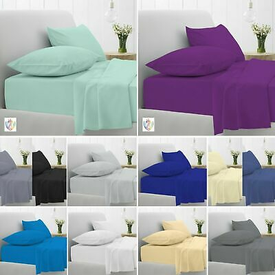Flat Sheet Percale Quality Bed Sheets Single Double King Super King Size