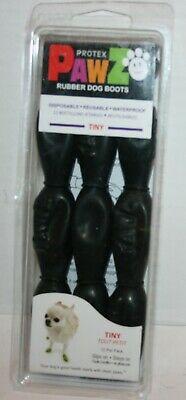 PawZ Protex Waterproof Dog Boots Disposable or Reusable - Tiny Black
