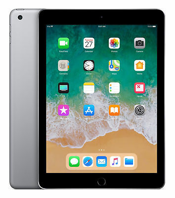 Apple iPad 6th Gen. 32GB, Wi-Fi + Cellular (Unlocked), 9.7in - Space Gray USED