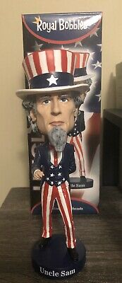 NIB UNCLE SAM BOBBLEHEAD FIGURE BY ROYAL BOBBLES