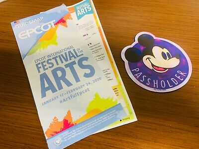 Walt Disney World Mickey Mouse Magnet Epcot Festival Arts 2020 Annual Passholder