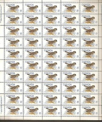 """497  10¢ """"Birds"""" Full Plate Sheet of 50 VFNH  WITH variety"""
