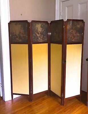 Antique ENGLISH Room Divider SCREEN ~1890s