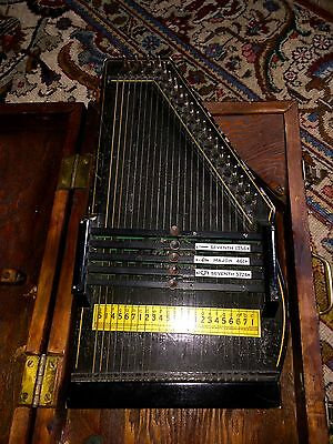 ANTIQUE AUTO HARP Zimmerman~Oscar Schmidt ~ wooden Case!