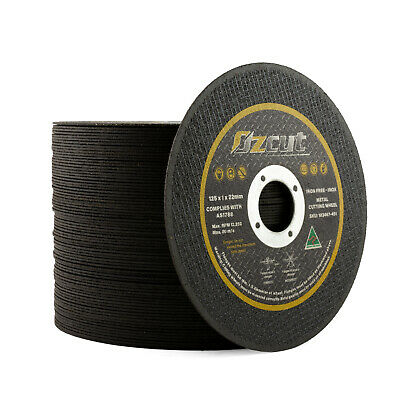 "COBRA 5"" 125mm 1mm Cutting Disc 10 Pack Angle Grinder Steel Cut-Off Wheel 1.0mm"