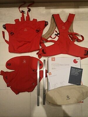 Stokke MyCarrier 3-in-1 Red Baby Carrier. 4 wks to 3 yrs. Boxed. Excellent Cond
