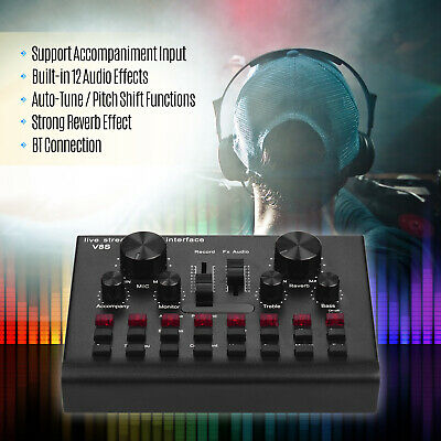 Multifunctional Live Streaming Sound Card USB Audio Interface Mixer Device U3G5