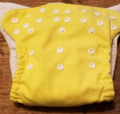 (I) Yellow Cloth Pocket Diaper with Insert Size: OS