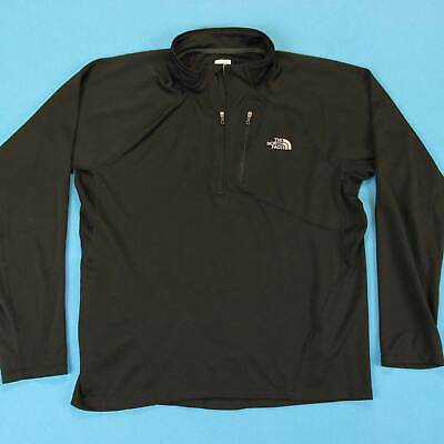 Men's THE NORTH FACE Shirt Size Large L Black Half Zip Running Athletic Pullover