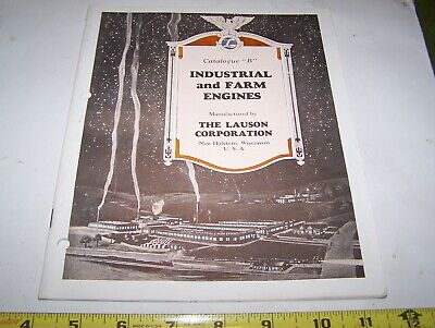 Old JOHN LAUSON Frost King Hit Miss Gas Engine Catalog Air Cooled Farm Motor WOW