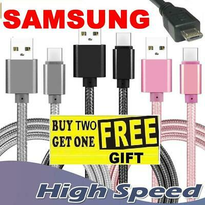 Heavy Duty Braided Micro USB Charger Charging Lead Data Sync Phone Cable 3M 1M