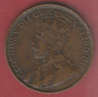 1917 Canada Large cent w/ George V, fine , inv# 4893