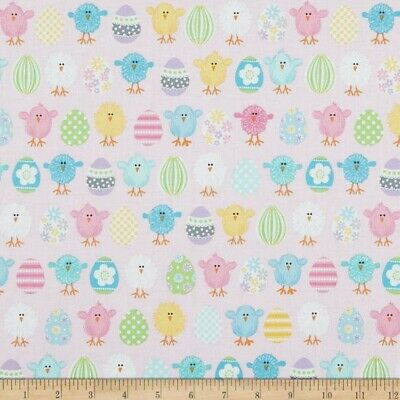 Sew Easy Kids Collection 100/% Cotton Fabr Chirpy Chick PINK 137cm Wide Per 50cm