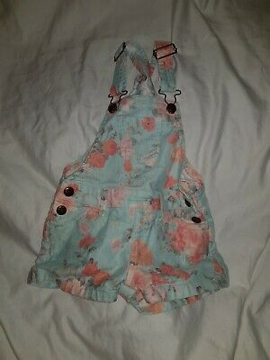 Denim Co Floral Short Dungarees 2-3 Years