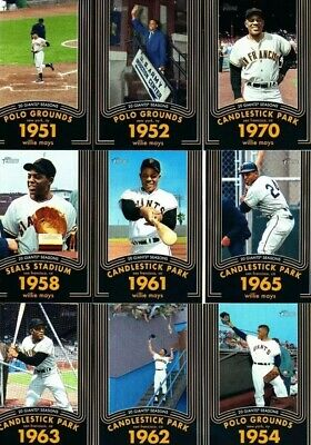 2020 Topps Heritage Willie Mays Inserts, You Pick, Complete Your Set, Mint!