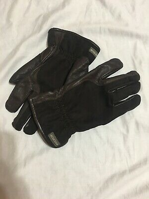 Woolrich Thinsulate Insulation 40g Gloves Brown Leather Fleece Lined Men's XL