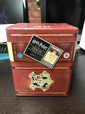 Harry Potter Limited Edition DVD Collection Years 1-5 in Trunk box, 12 Disc