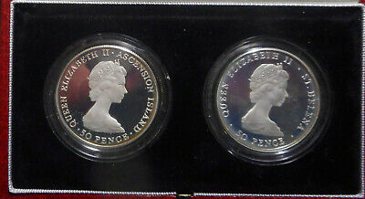 St Helena & Ascension 1984 Royal Visit Piedfort Silver proof Crown Coin 500 mint