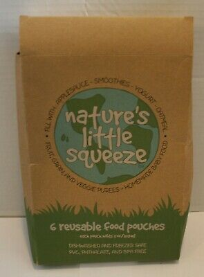 Nature's Little Squeeze Kids Toddler Baby Reusable Food Pouches - 3 Options!